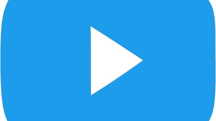 Youtube-Logo in Twitter-Blau