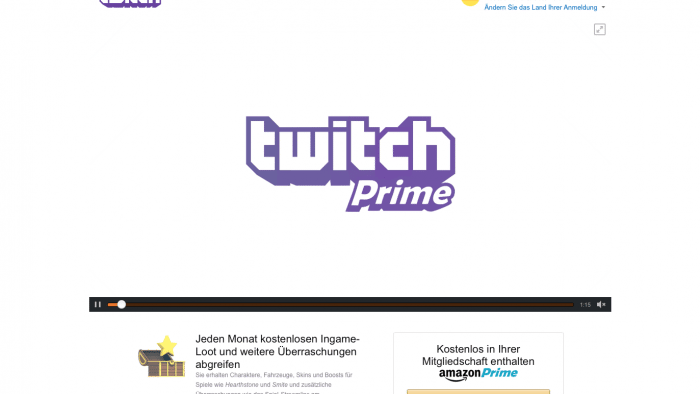 Twitch kostenlos für Amazon-Prime-Kunden - teilweise