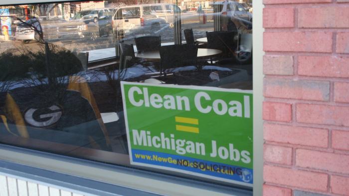 "Plakat ""Clean Coal = Michigan Jobs"""