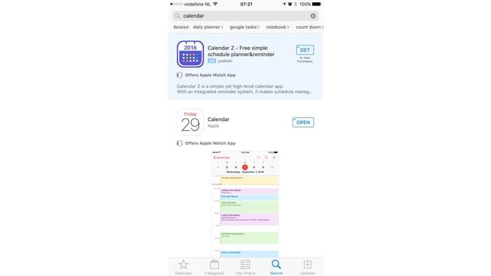 Banner im AppStore
