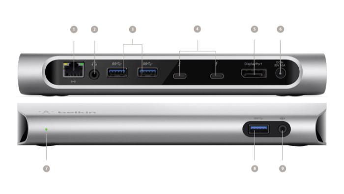 Thunderbolt-3-Dock passend für neue MacBook-Pro-Modelle