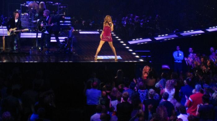 Celine Dion gibt Konzert