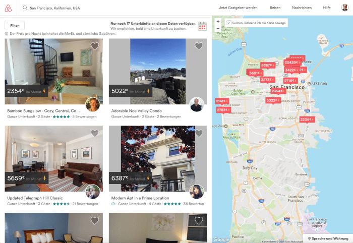 Airbnb darf künftig mit weniger Einschränkungen Zimmer und Wohnungen in San Francisco vermitteln.