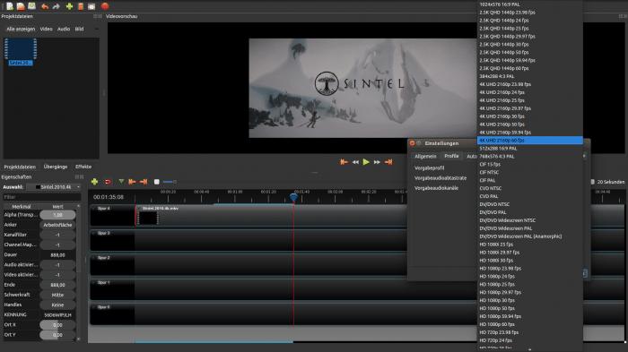Linux-Videoeditor: Openshot 2.20 unterstützt 4K