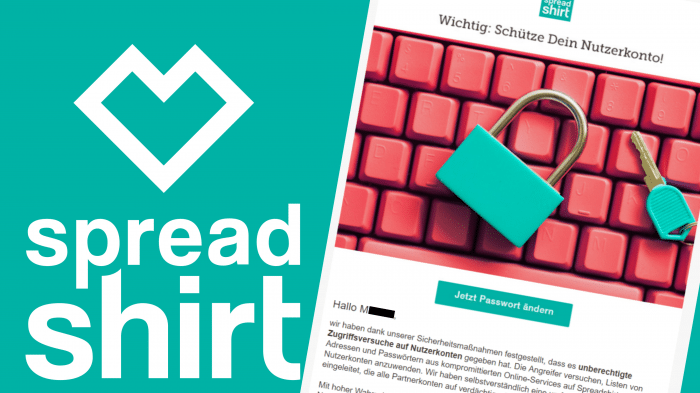 Angriffe auf Spreadshirt-Konten