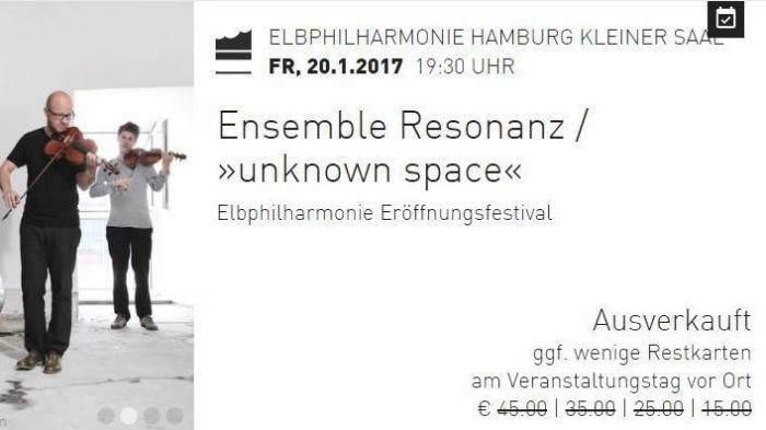 Heikler Bug im Online-Shop der Elbphilharmonie: Gekaufte Tickets öffentlich abrufbar