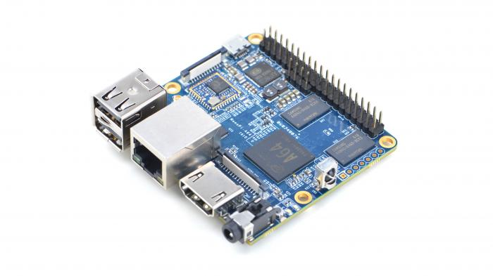 Ein blaues Board, der Friendly ARM Nano Pi A64