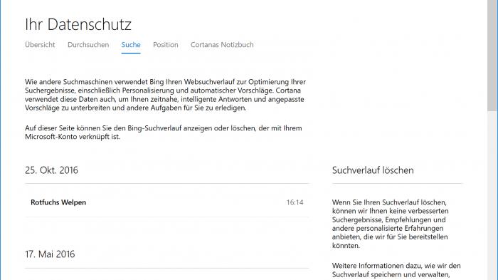 Datenschutz bei Windows 10: