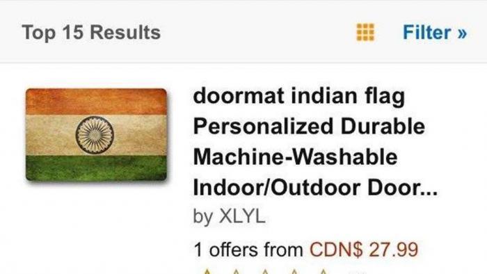 Amazon zieht Fußmatte mit Indiens Flagge zurück