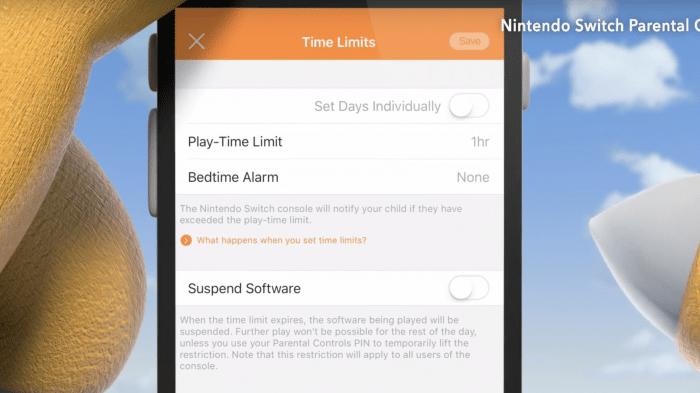 Nintendo Switch Kindersicherungs-App