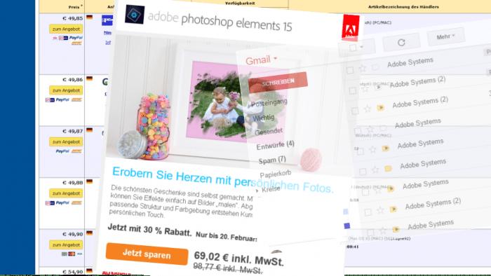 Nervige Online-Werbung von Adobe
