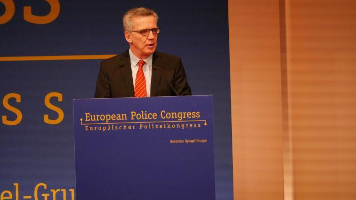 Europäischer Polizeikongress: de Maizière fordert erweiterte Vorratsdatenspeicherung