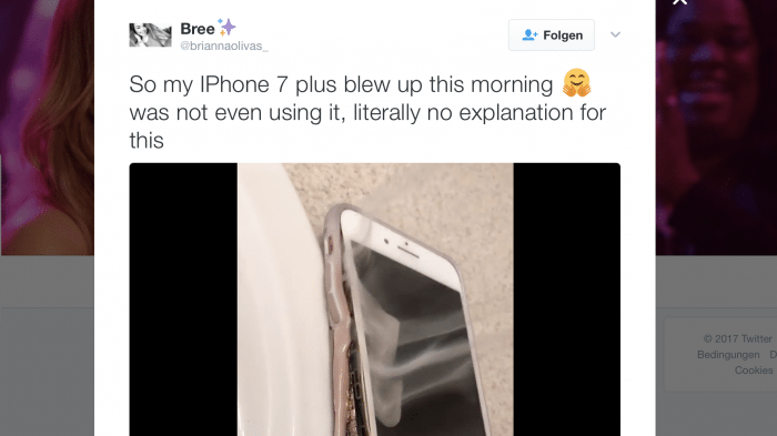iPhone 7 Plus Video auf Twitter