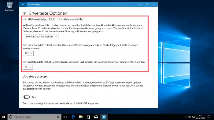 Windows 10: Creators Update bringt (etwas) mehr Kontrolle über Updates