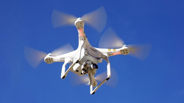 Quadkopter von unten