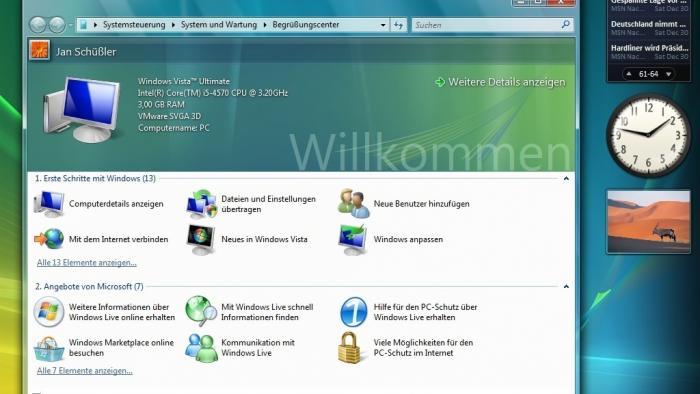 Letztes Support-Jahr für Windows Vista