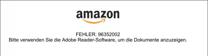 Beim Öffnen des PDFs in Okular erscheint eine Fehlermeldung.