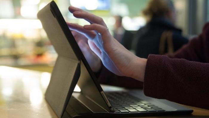 iPad mit Hardware-Tastatur