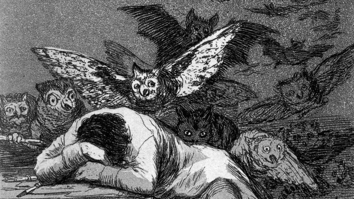 Francisco de Goya: Der Schlaf der Vernunft gebiert Ungeheur