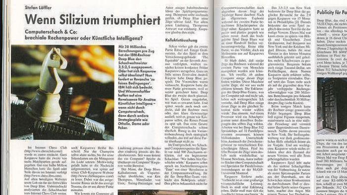 Vor 20 Jahren: Game over, Herr Kasparow