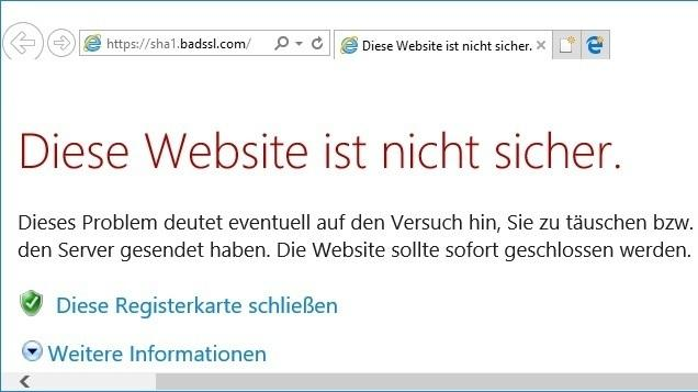 Microsoft blockiert SHA-1 in Edge und Internet Explorer | heise Security
