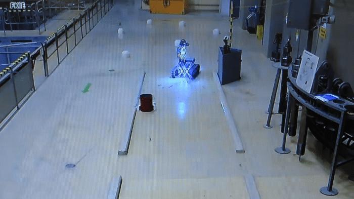 Roboterwettbewerb: Im zweiten Lauf wurde das Kernkraftwerk (etwas) besser aufgeräumt