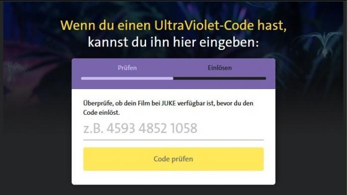 Juke:  jDigitale Kopien von Filmen mit UltraViolet-Code nun erhältlich