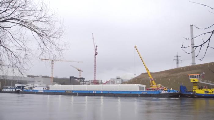 Atommüll-Transport auf dem Neckar am Ziel – Protest geht weiter