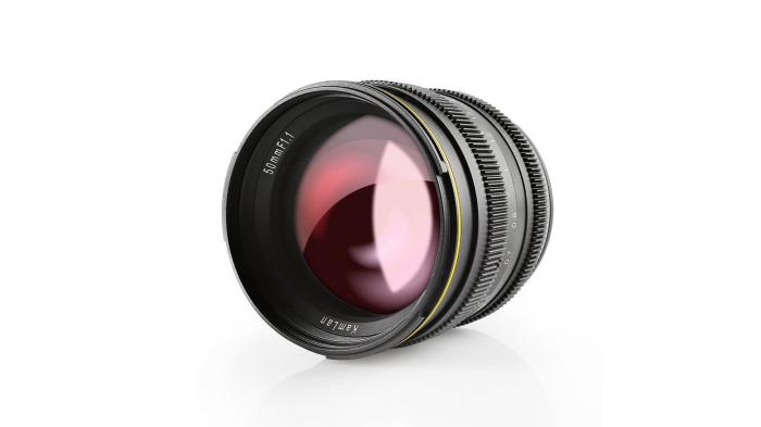 Lichtstarkes Objektiv Kamlan 50mm F1.1 für APS-C-Kameras