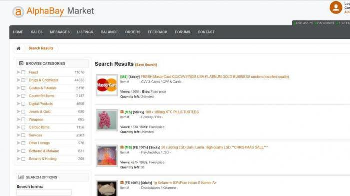 Darknet-Marktplatz Alphabay seit Tagen offline