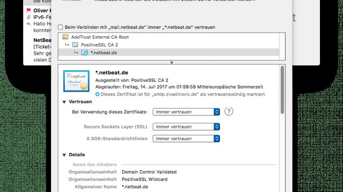 SSL-Probleme bei Netbeat