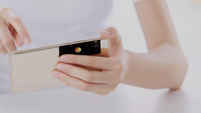 Meizus neues Smartphone hat AMOLED-Display an der Rückseite