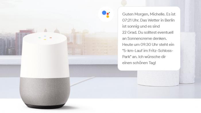 Google Home: Speech- und Ear-on