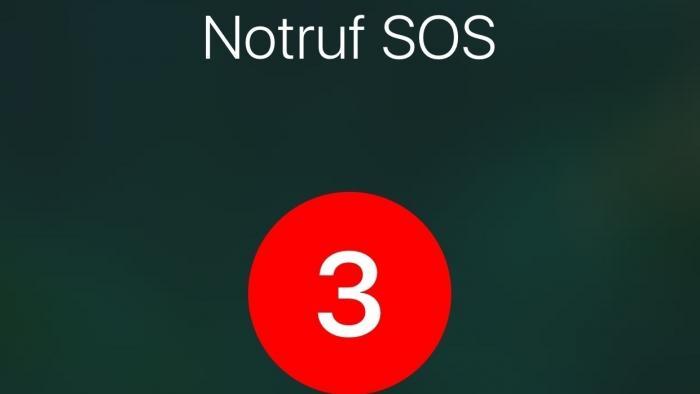 Notruf SOS auf dem iPhone