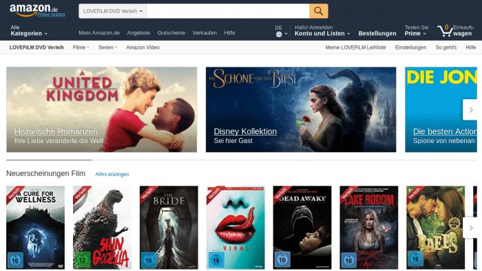 """!!! Amazon stellt DVD- und Blu-ray-Verleih """"Lovefilm"""" ein"""