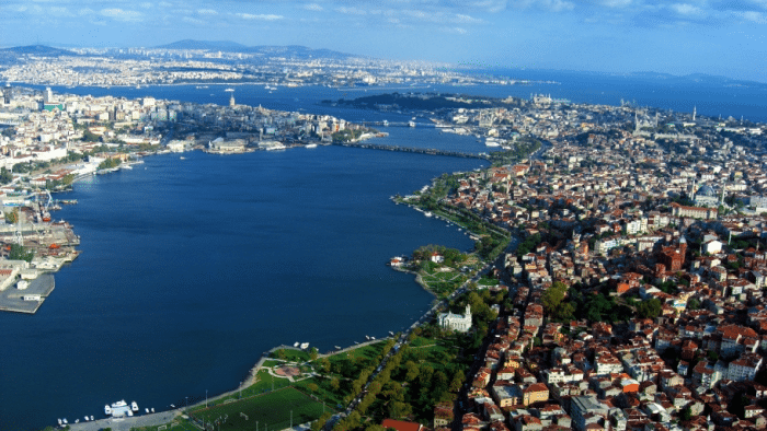 Luftuafnahme des Bosporus