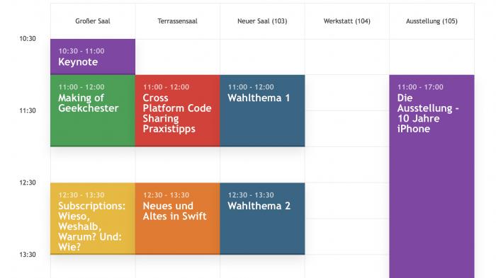 Entwicklerkonferenz macoun vortragsprogramm per app for Raum gestalten app