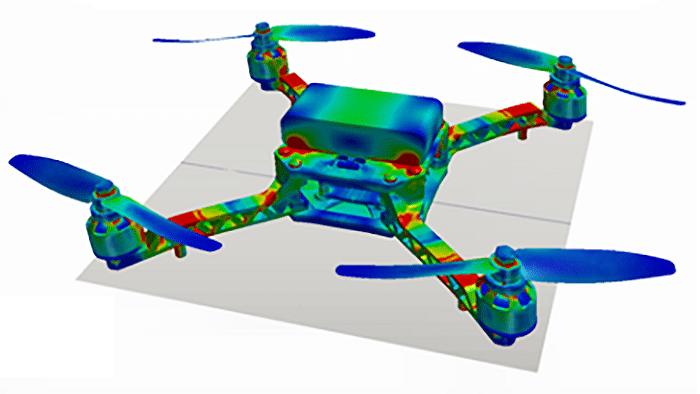 Um 18 Uhr geht's los: Simuliere die Kräfte an einem Quadrocopter-Arm