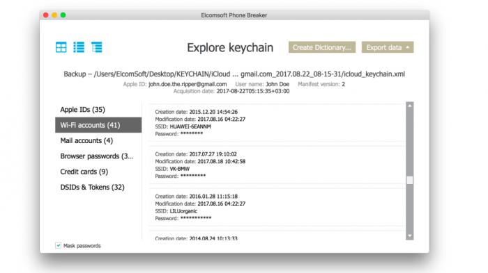Apples iCloud-Schlüsselbund: Forensik-Tool soll Zugangsdaten auslesen