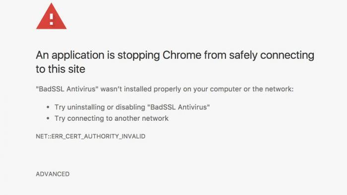 Chrome soll vor schlampiger AV-Software warnen