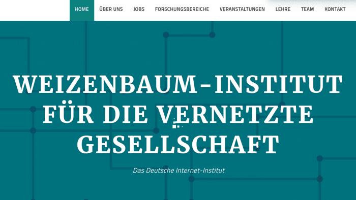 Deutsches Internet-Institut eröffnet