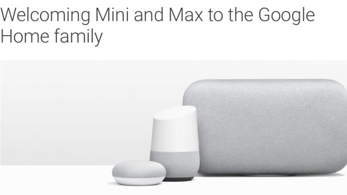 Google Home Mini und Max: Smarte Lautsprecher für jeden Geschmack