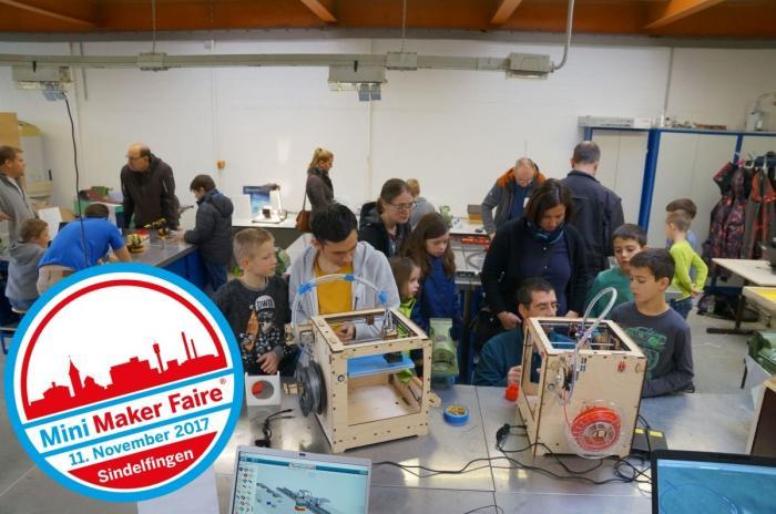 """Bild aus einer Werkstatt mit Button """"11. November 2017: Mini Maker Faire Sindelfingen"""""""