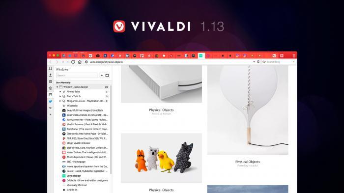 Vivaldi-Browser mit neuer Tab-Verwaltung