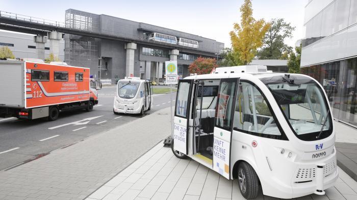Autonomes Fahren: Fraport testet selbstfahrende Shuttles am Frankfurter Flughafen