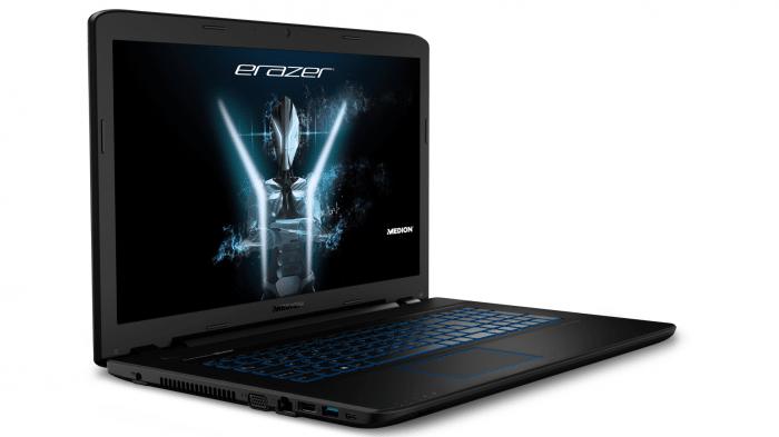 Aldi-Notebook Medion P7652 ab 7. Dezember: Intel Core i7-8550U, GTX 1050 und IPS-Display für 1000 Euro