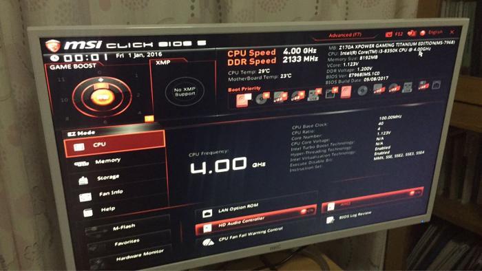 Nach einer Modifikation an der Intel Management Engine erkennt das Z170-Mainboard einen Coffee-Lake-Prozessor.
