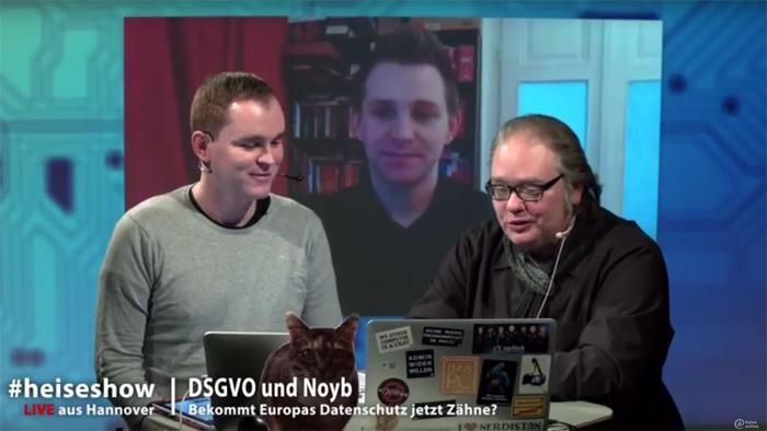 #heiseshow, live ab 12 Uhr: DSGVO und Noyb – Bekommt Europas Datenschutz jetzt Zähne?
