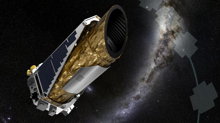 Kepler-Teleskop vor Sternen