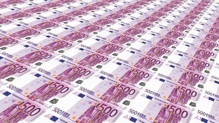 Euro-Scheine, Geld, Bargeld